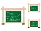 Tack för ditt besök banners — Stockvektor