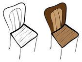 椅子の図 — ストックベクタ