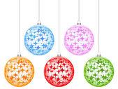рождественские глобус — Cтоковый вектор