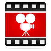 Icono de cámara de película — Vector de stock