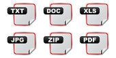 Document extensie — Stockvector