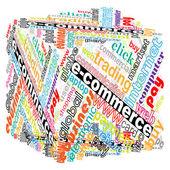 Colorful e-commerce box — Stock Vector