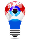 Light bulb with luxembourg flag — Stock Vector