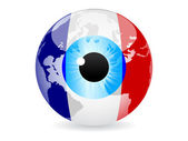 Eye of france — Stock Vector