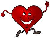 Happy red heart — Stock Vector