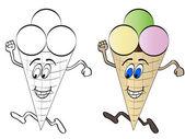 Zmrzlina běh — Stock vektor