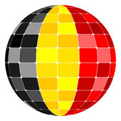 Belgium flag — Vetorial Stock