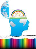 Open mind design — Stock Vector