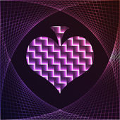 Poker element - heart — Vettoriale Stock