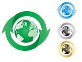 Ecological earth — Stock Vector
