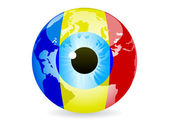 Eye of romania — Stock Vector