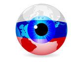 Eye of russia — Stock Vector