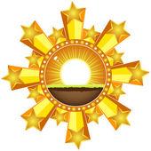 Sunshine banner — Stock Vector