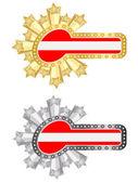 Austria flag banner — Stock Vector