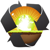 Natural recycling — Stock Vector