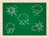 Pictogram van het weer — Stockvector