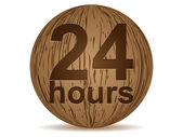 Twenty four hours — Stock Vector