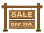 Reklam banner för försäljning tjugo procent rabatt — Stockvektor