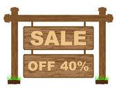 Banner de publicidade para vendas 40% desconto — Vetorial Stock