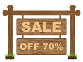 Reklam banner för försäljning sjuttio procent rabatt — Stockvektor