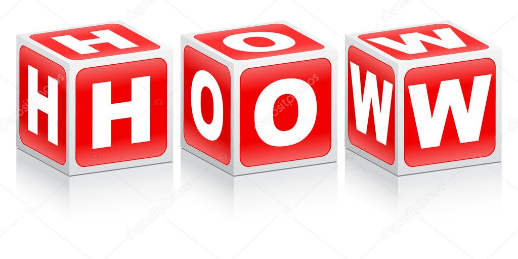How word made of red boxes — Stock Vector © marincas ...