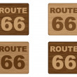 Stock Vector: Route 66 on wooden banner