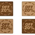 Advertising banner for sales twenty percent discount — Stock Vector