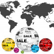 Stock Vector: Sales around the world