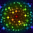 Colorful background stars pattern — Vettoriali Stock