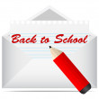 Royalty-Free Stock Vector Image: Back to school letter