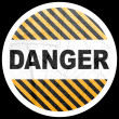 Stock Vector: Danger button