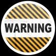 Warning button — Stock Vector