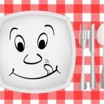 impostazione di cena — Vettoriale Stock