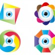 Colorful eye — Stock Vector