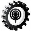 Podcast icon - Stock Vector