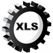 Xls format — Stock Vector