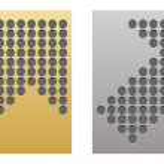 Button with dots arrow — Stock Vector