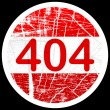 Stock Vector: 404 error sign