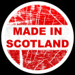 Made in scotland — Stockvectorbeeld
