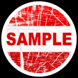 Sample stamp — Stock Vector