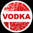Vodka stamp — Vettoriali Stock