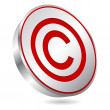 Copyright button — Stock Vector
