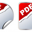 Pdf stickers — Vector de stock #7529472