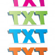 Txt format — Stock Vector
