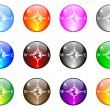 Compass buttons  — Stock Vector