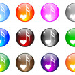 Vector de stock : Song of love button