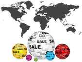 Sales around the world — Stock Vector
