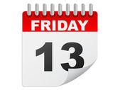 Friday the 13th calendar — Stock Vector