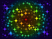 Colorful background stars pattern — ストックベクタ