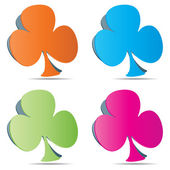 Poker clover — Stock Vector
